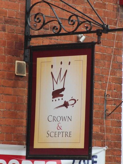 Crown & Sceptre sign