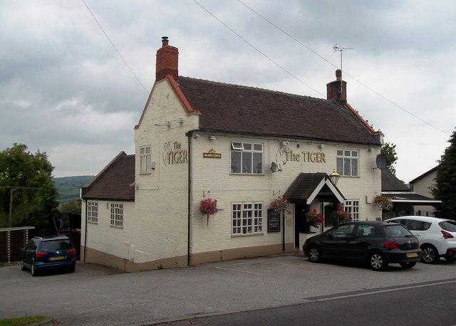 'The Tiger' Public House in Turnditch