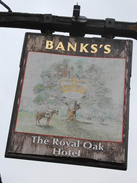 The Royal Oak Hotel sign