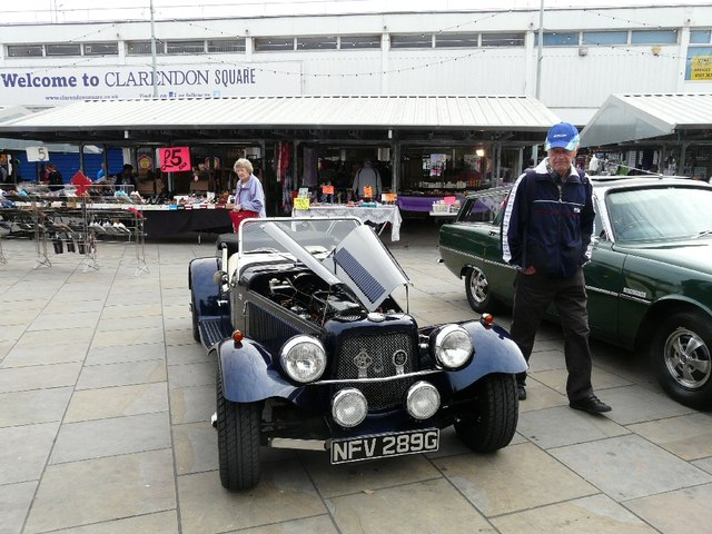 NG sports car on Hyde Civic Square