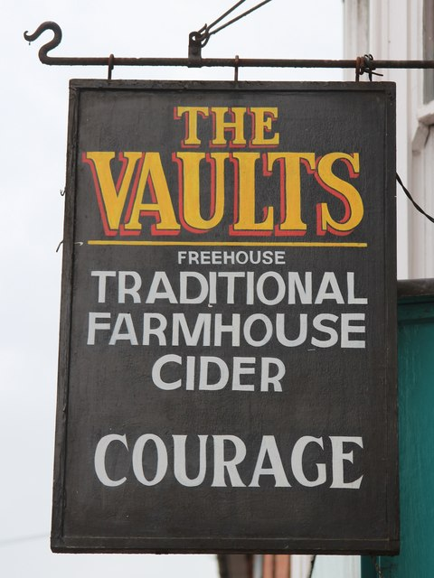 The Vaults sign