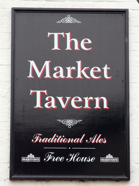 The Market Tavern sign