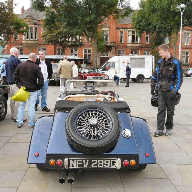 NG sports car on Hyde Civic Square