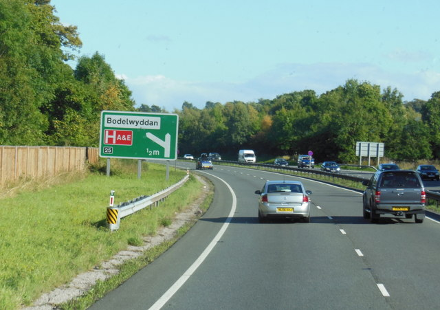 A55 North Wales Expressway towards junction  25