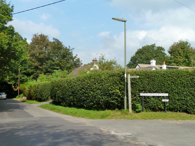 Coldharbour Lane leaves Windlesham Road