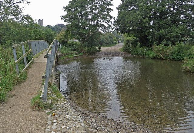 Ford and footbridge, Glandford