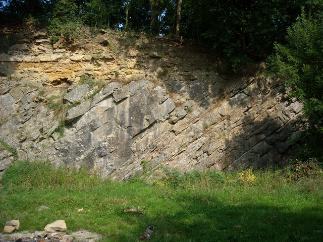 De la Beche Unconformity, Vallis Vale (eastern end)