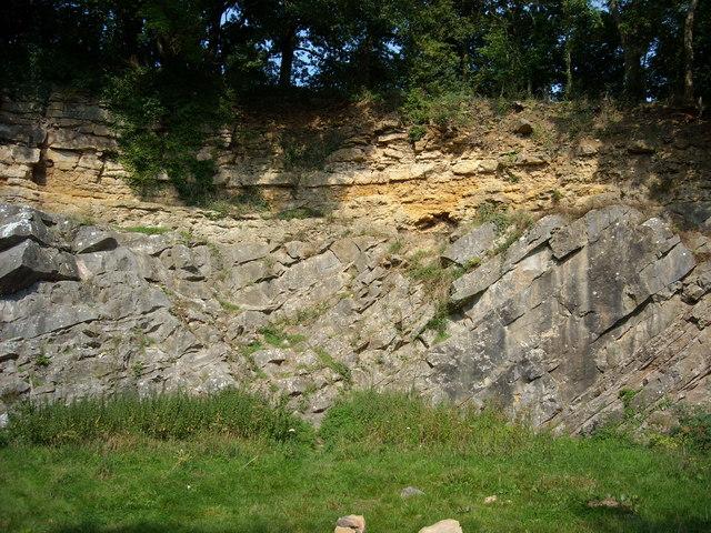 De la Beche Unconformity, Vallis Vale (central part)