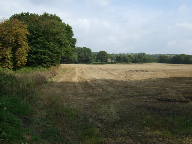 Stubble field off Crank Road