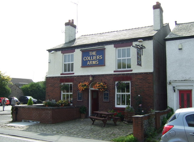 The Colliers Arms pub. Kings Moss