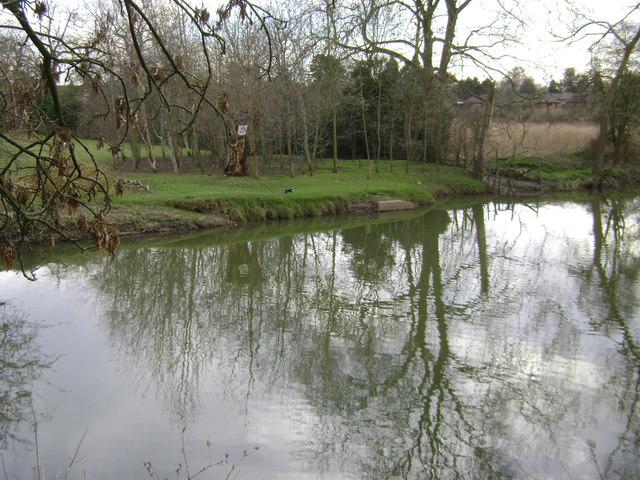 River Avon by Emscote Gardens, Warwick 2014, March 15, 15:42