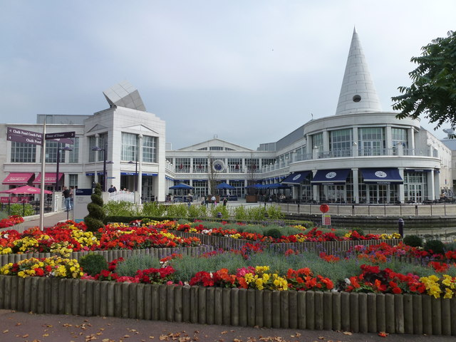 Flowers near The Village, Bluewater Shopping Centre