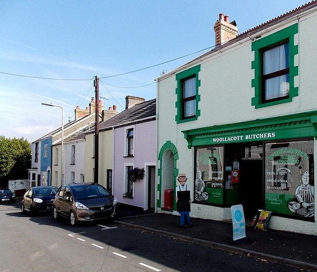 Woollacott Butchers shop in Newton, Swansea