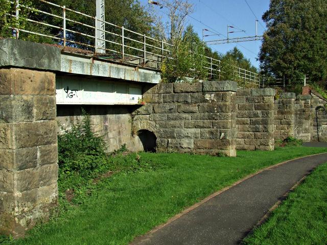 Railway line at Ladyburn