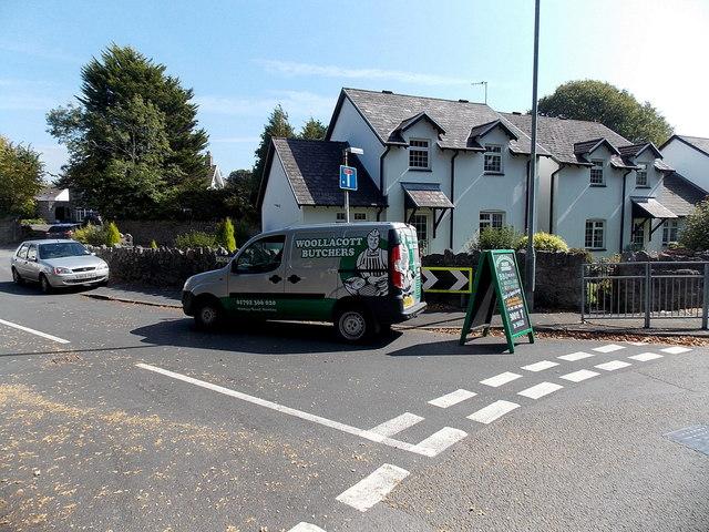 Woollacott Butchers van and board, Newton, Swansea