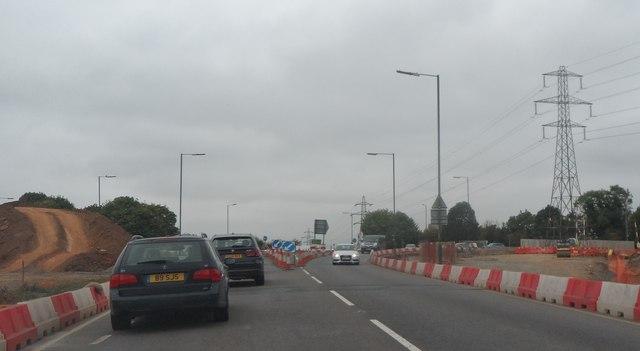 Roadworks on Broomhall Way