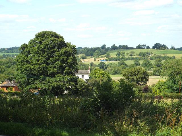 A glimpse of Rowney Green House Farm