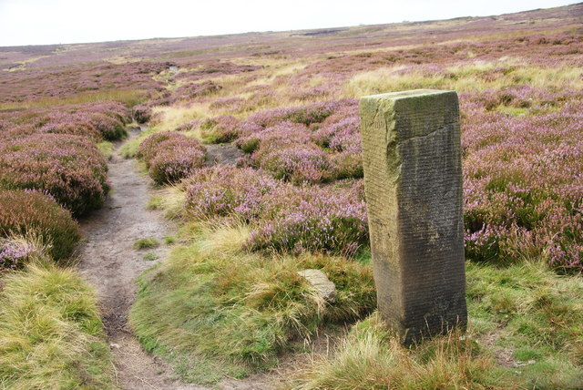 Boundary stone below Rosedale Head