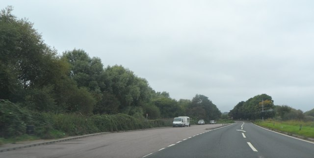 Large layby on the A4103