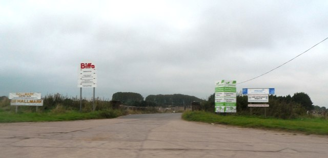 Entrance to the waste recycling plant