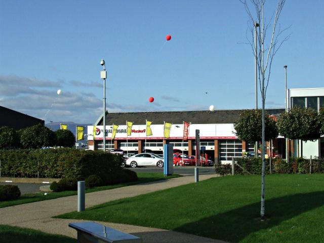 Barrage balloons over Greenock