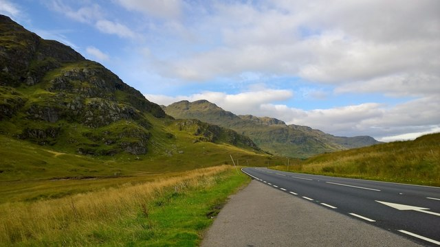 Along the A83 road