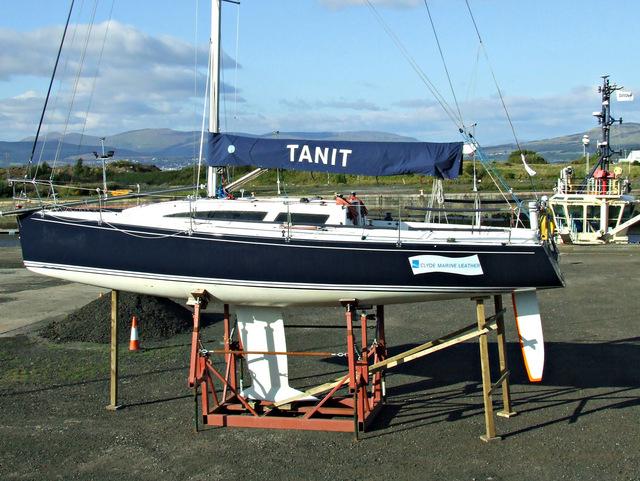 Tanit at James Watt Dock Marina