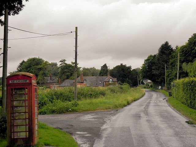 Converted Phone Box at Brown Candover