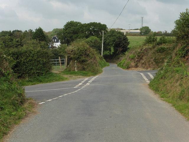 New Cross - crossroads near Stidson, South Brent