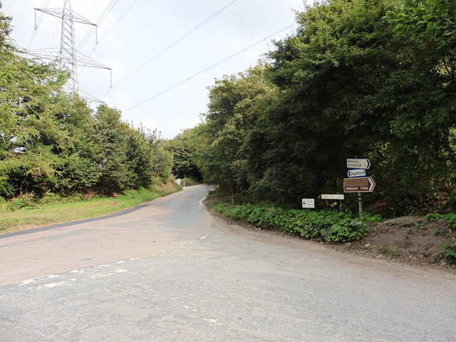 Road junction near Marley Head, close to South Brent