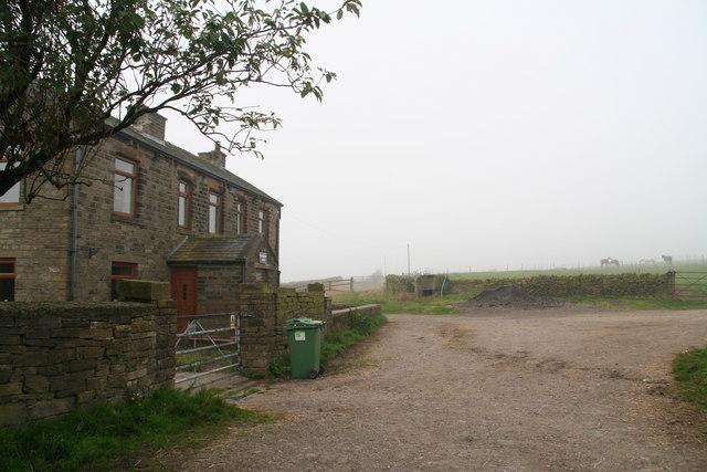 Misty September morning on the track past Hadden Farm