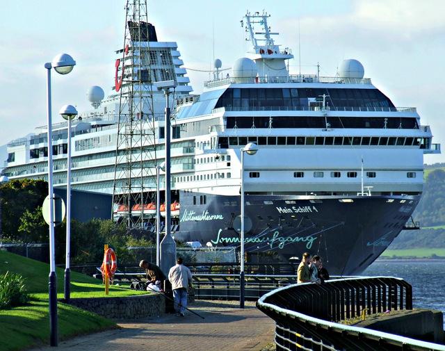 Mein Schiff 1 at Greenock Ocean Terminal