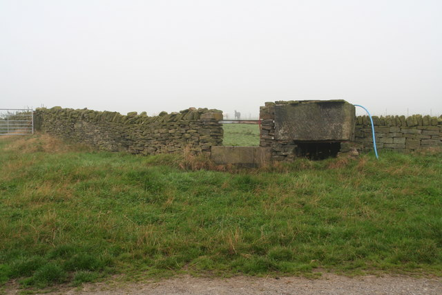 Stone water tank and trough opposite Hadden Farm