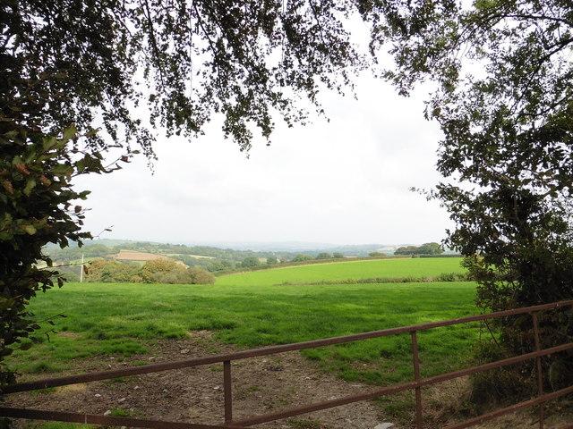 View across fields from Webland Lane