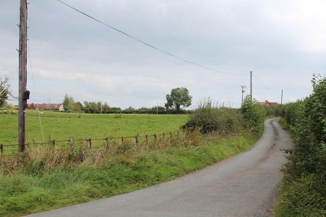 Lane near Harthall