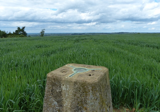 Trig point on Whatborough Hill