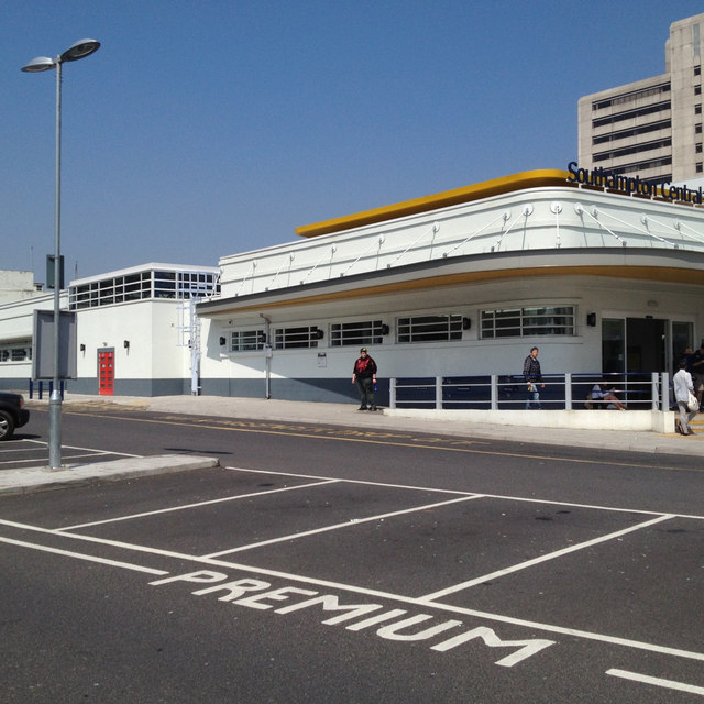 South side of Southampton Central Station