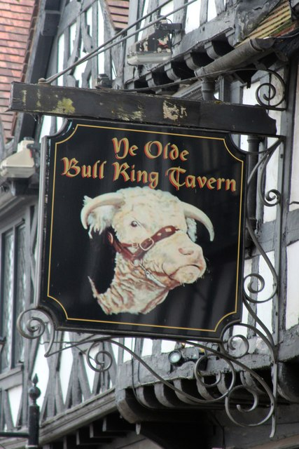 Ye Olde Bull Ring Tavern sign