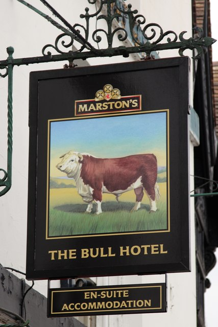 The Bull Hotel sign