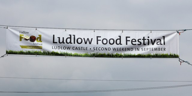 Ludlow Food Festival sign