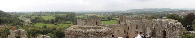 View from Ludlow Castle tower