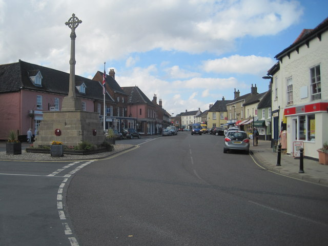 Holt war memorial and Market Place