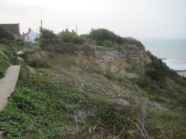 Coastal erosion, Overstrand