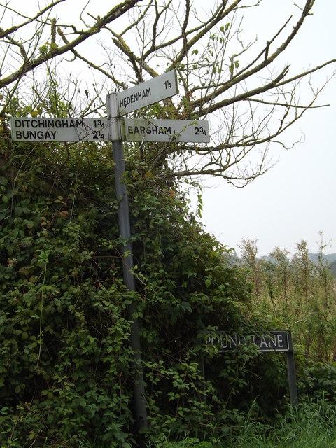 Roadsigns on Pound Lane