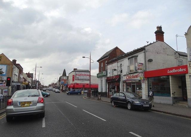 Road junction on the A41, Handsworth, Birmingham