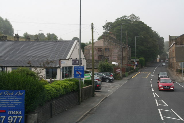 A616 passing Honley