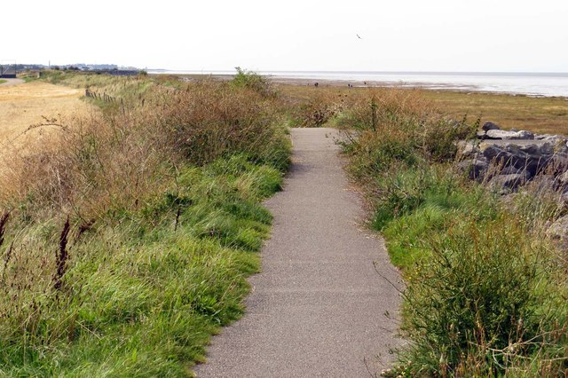 The Lancashire Coastal Way by Preesall Sands