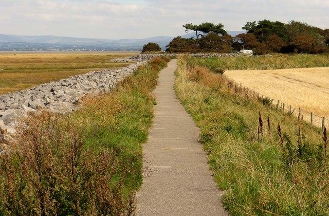 The Lancashire Coastal Way to the car park