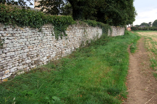 Path and churchyard wall
