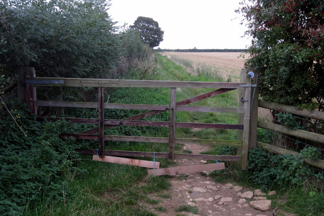 Gate on the bridleway to Whiston